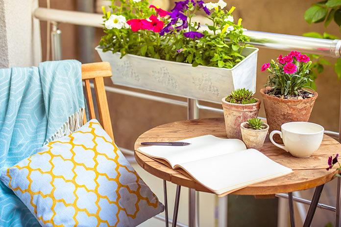 Gustowny i przyjemny balkon