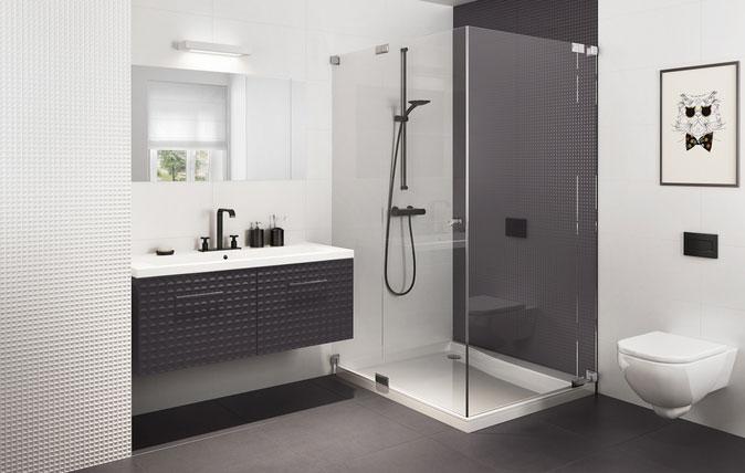 Biało-czarna łazienka – ponadczasowa, elegancka, a jednocześnie bardzo modna